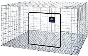 Little Giant AH3030 Rabbit Hutch, 30 x 30 x 16, Galvanized