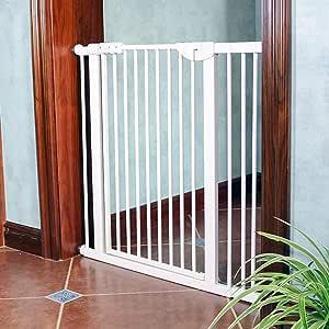 LNDDB Puerta de Entrada con Puerta para Mascotas con Llave Barrera Extra Ancha para Puertas de protección para escaleras Protector de Pared Interior, 71-173 cm de Ancho (Tamaño: Ancho 118-124cm): Amazon.es: Deportes