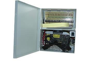CCTV 18CH Security Camera Power Supply Box UL Listed 12V DC 20Amp PB 18CH20A
