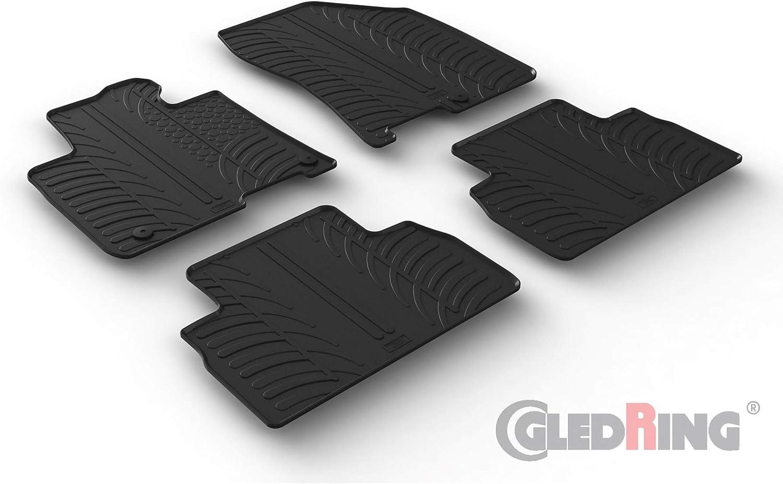 T Profil 4- pi/èces + clips de montage Set tapis de caoutchouc compatible avec Hyundai Santa Fe IV 11//2018-