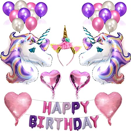 Unicornio Fiesta Decoración Unicornio cumpleaños Supplies,38 ...