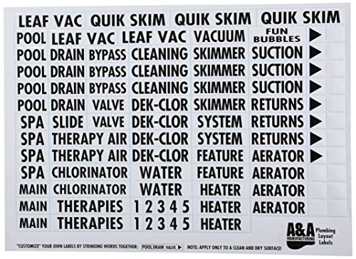 A&A Manufacturing 523186 Plumbing Label