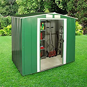 BillyOh-4x6-Metal-Shed-Partner-Double-Doors-Apex-Metal-Shed-Bike-Storage-Unit-4ft-x-6ft