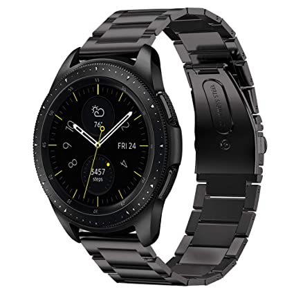 V-MORO Strap Compatible with Galaxy Watch 42mm Band/Active 40mm Bands Women Men Ultra-Thin Solid Stainless Steel Replacement for Samsung Galaxy Watch ...