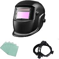 ACELEY Casco para soldar, Máscara de Seguridad Ojos automáticos, Máscara Solar Solar fotoeléctrica automática con…