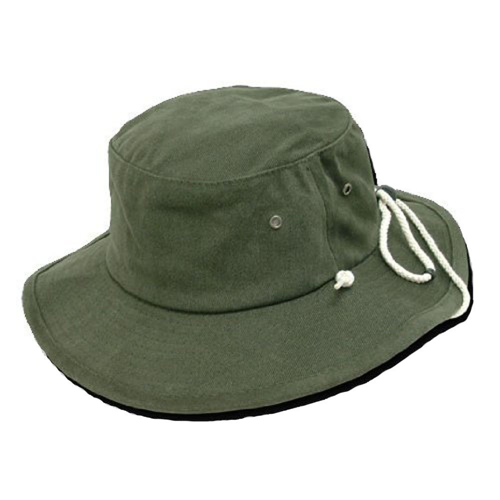 Decky Aussie Hat with Drawstring Boonie Hat - (7 Colors Available) S M Olive  at Amazon Men s Clothing store  Sun Hats c40889cf3658