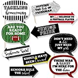 Funny Homecoming - Football Themed School Dance Photo Booth Props Kit - 10 Piece