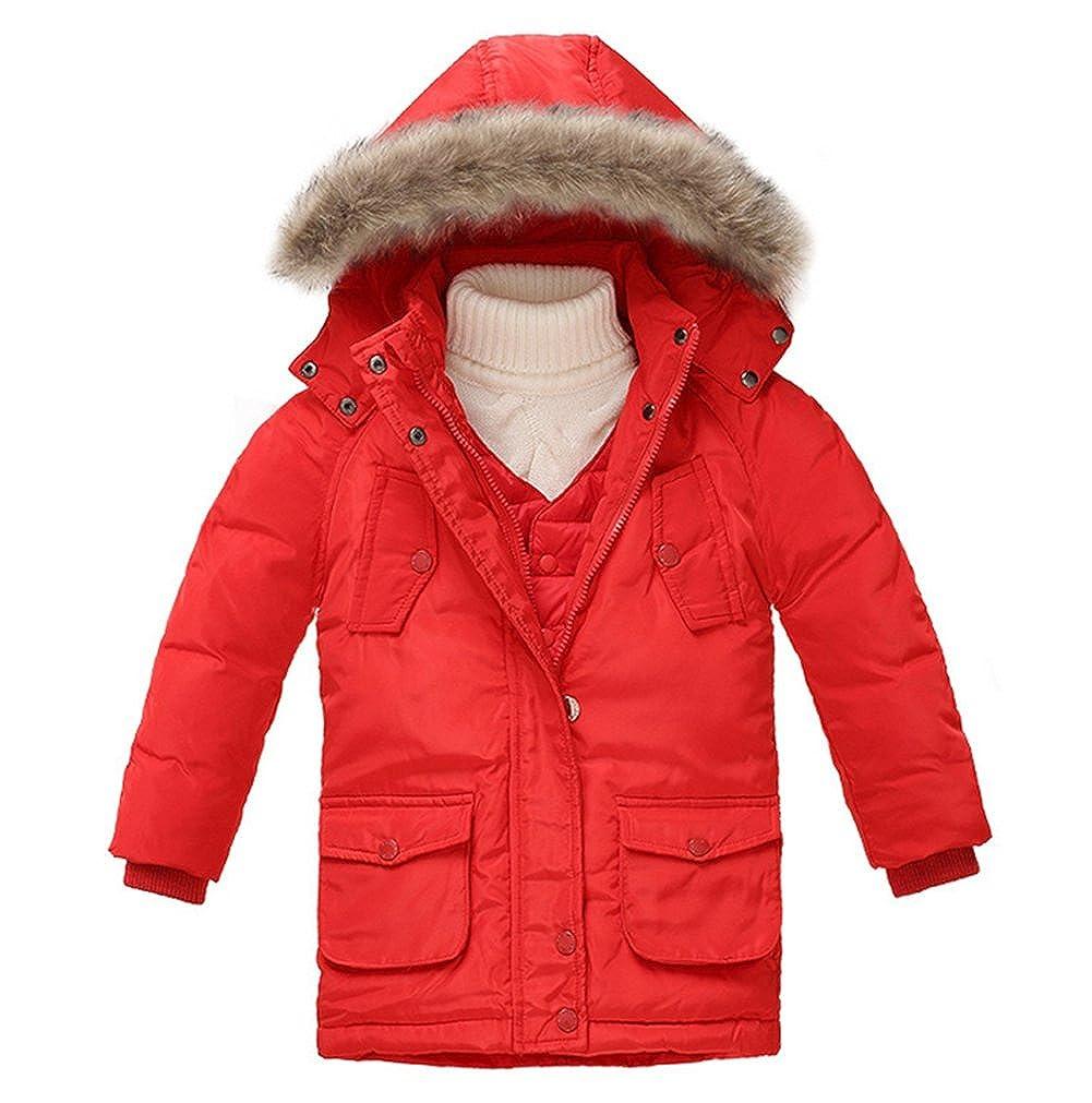 Tortor 1bacha Kid Boys' Winter Hooded Down Puffer Coat Vest Set JHKJ2314