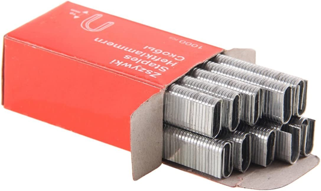 1000Pcs Grapas en forma de U 1.2MM U/ñas gruesas a prueba de herrumbre para enmarcar Tacker Accesorios de pistola de grapas manuales Herramienta de carpintero-Alan Graham ScottVF Alan Graham ScottVF