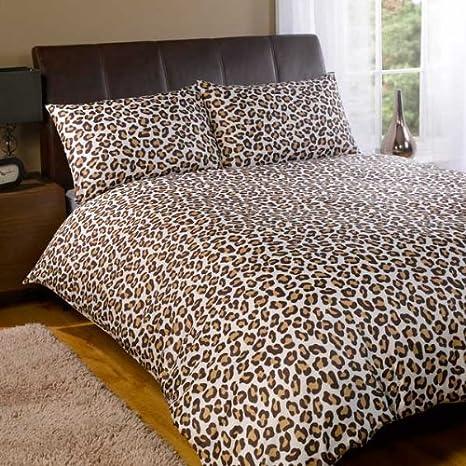 Copripiumino Leopardato Matrimoniale.Dreamscene Copripiumino Leopardato Leopardo Choc Singolo