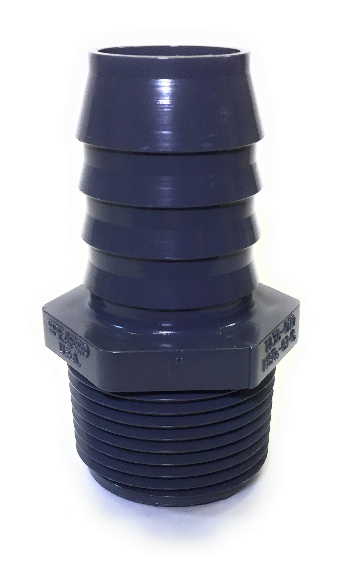 Gray 1//2 Barbed x NPT Male Adapter Schedule 40 Spears 1436 Series PVC Tube Fitting