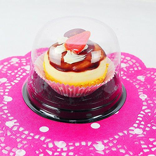 25-PCS-Premium-Decorative-Fancy-Plastic-Cake-Pastry-Dessert-Holder-Box-w-Clear-Top
