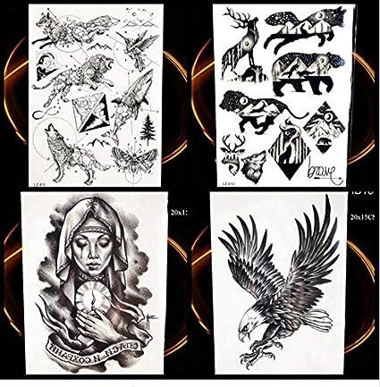 ruofengpuzi Adesivo tatuaggioNegro Águila Planeta Animal Etiqueta ...