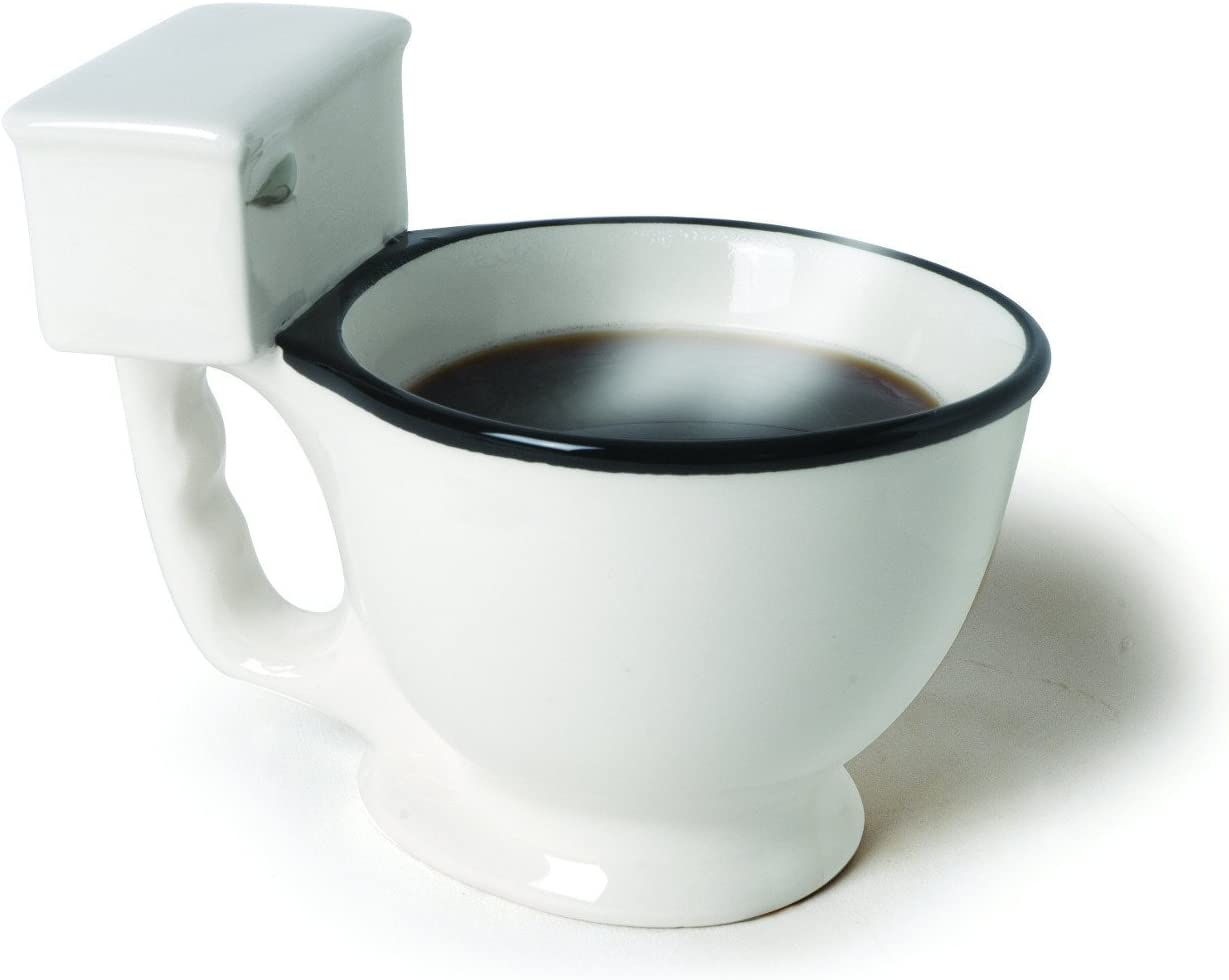 Toilet Bowl Coffee Mug Bowl Funny White Elephant Gag Gift Toilet Humor Ceramic
