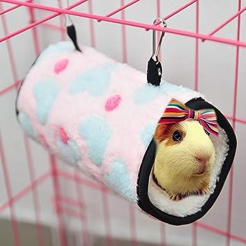FLAdorepet Hamster Hamaca Colgante Cama para Azucar Glider Pequeño Animal Hamster Túnel Tubo Hamster Jaula Accesorios: Amazon.es: Productos para mascotas