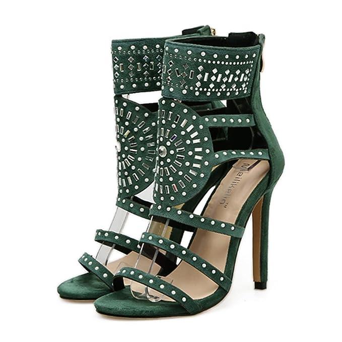 Sandalias de tacón alto para mujer Covermason Romano exótico Tacones altos  Verano Club de 89ea9f8caf6e