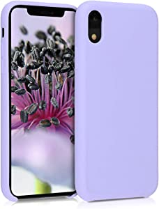 kwmobile TPU Silicone Case Compatible with Apple iPhone XR - Soft Flexible Rubber Protective Cover - Lavender