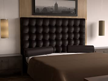 LA WEB DEL COLCHON - Cabecero Manhattan (Cama 135) 145 x 70 cms. 12 - Chocolate: Amazon.es: Hogar