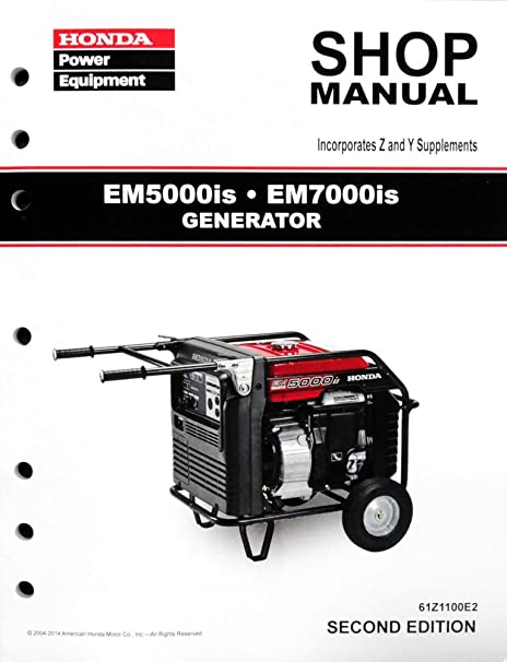 amazon com honda em5000 em7000 generator service repair shop rh amazon com honda em5000sx generator shop manual Honda Manual Book