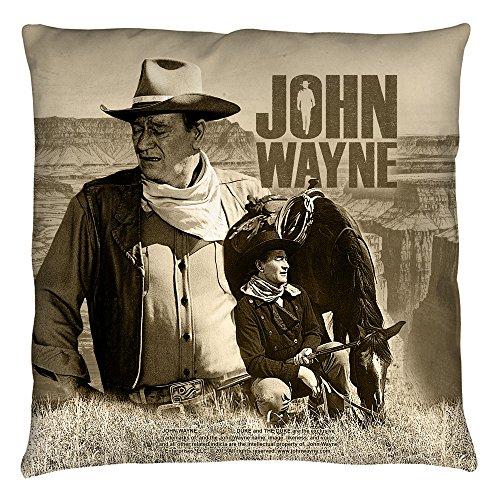 John Wayne Duke Iconic American Actor Stoic Western Cowboy Throw Pillow