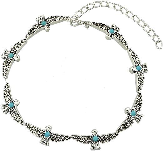 Saengthong Antique Women Jewelry Silver Turquoise Gemstone Ear Stud Dangle Wedding Earrings