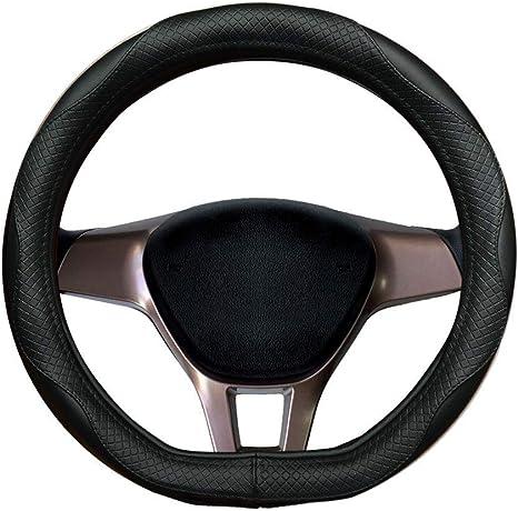 Volants de voiture Housse en cuir v/éritable Noir