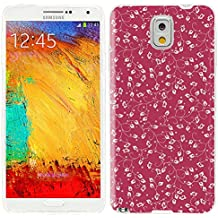 note3 Case, Samsung note 3 Case, Galaxy note3 Case , ChiChiC full Protective unique Case slim durable Soft TPU Cases Cover for Samsung Galaxy Note3 N900A N900V N9000 N9002 N9005 N900P N900T,vintage yellow floral pattern on red background