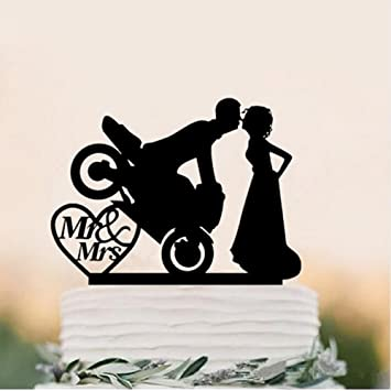 Il Villaggio Degli Sposi Figur Für Hochzeitstorte Bräutigam Motorrad