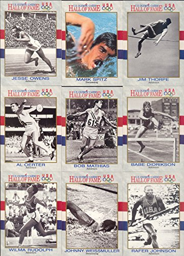 U.S. OLYMPIC HALL OF FAME 1991 IMPEL COMPLETE BASE CARD SET OF 90 SP