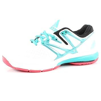 Adidas Stabil4ever zapatillas de balonmano para mujer weiß / grün / pink Talla:8 UK - 42 EU: Amazon.es: Deportes y aire libre