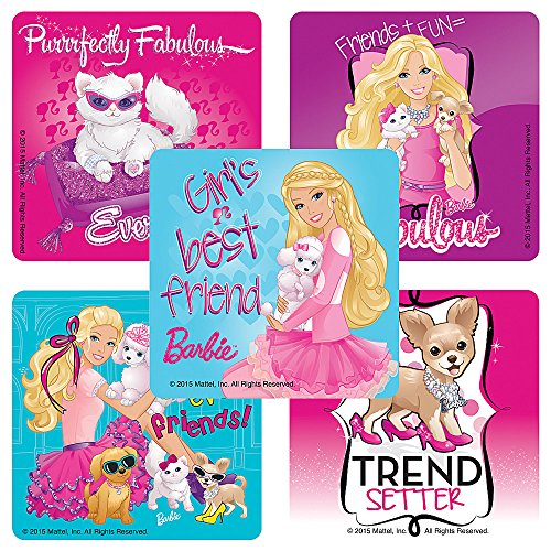 Barbie with Pets Stickers - Birthday Party Supplies & Favors - 100 Per ()