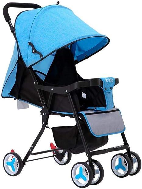 Opinión sobre WWKDM Cochecito de bebé Cochecito de bebé Cochecito de bebé Plegable Ligero Cochecito de bebé reclinable, Rojo
