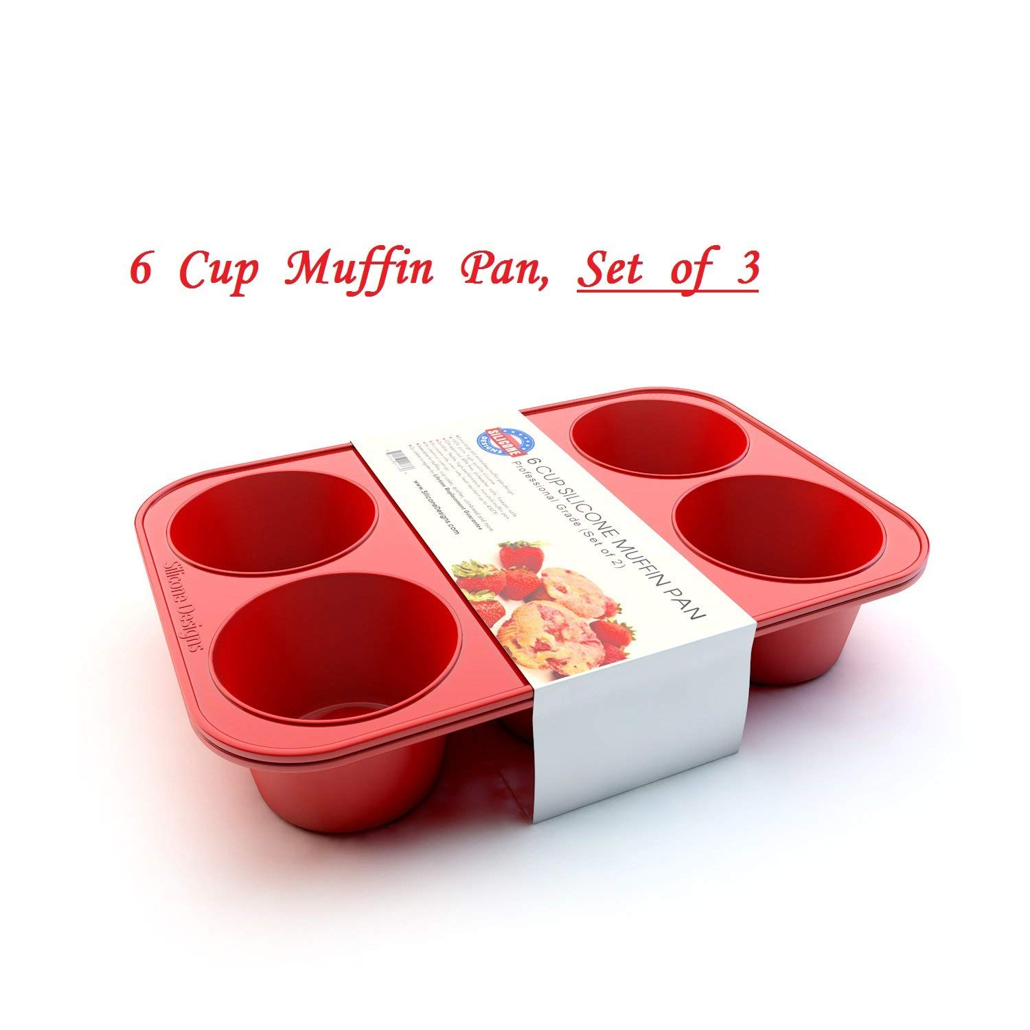 Silicone Texas Muffin Pans and Thanksgiving Cupcake Maker (3, 6 Cup) by Silicone Designs (Image #4)