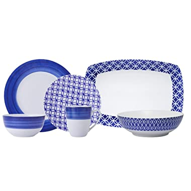 Gourmet Basics Madison Dinnerware, Service for 8 with Serving Pieces