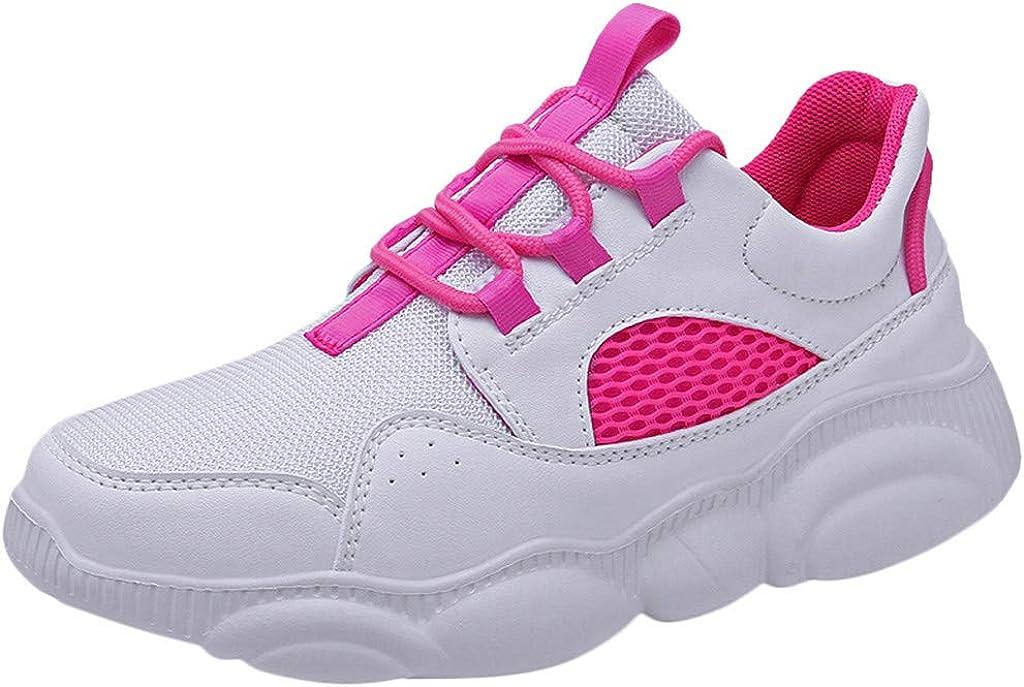 Btruely Zapatillas Deportivas de Mujer Air Cordones Zapatillas de ...