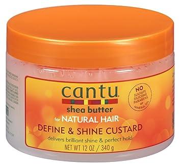 3dcaa35689dd Amazon.com : Cantu Natural Hair Define And Shine Custard 12oz Jar (2 ...
