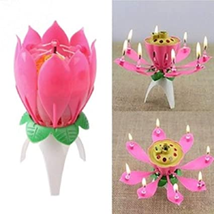 Buy Kala Decorators Lotus Sparkle Musical Magical Flower Birthday Blossom Candle For Party Multicolor Pack Of 1 Online At Low Prices In