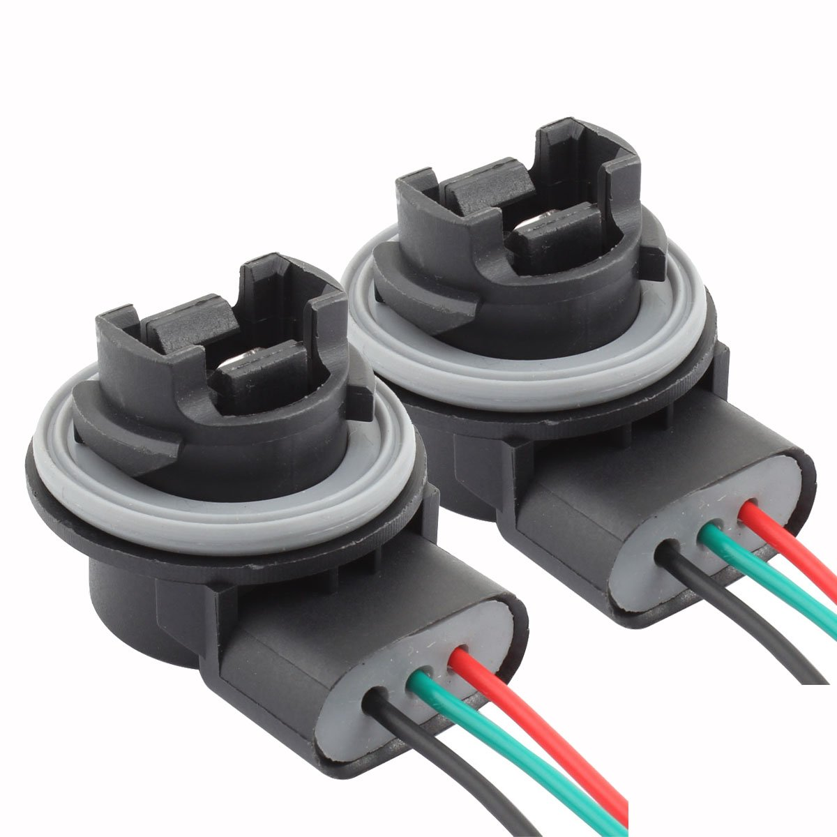 Tomall 3157 T25 Bulb Sockets Female Adapter For Socket Wiring Diagram Automotive Light Bulbs Brake Lightpack Of 2 Tabs