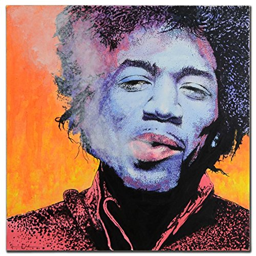 Jimi Hendrix ORIGINAL Painting Signed by Jason Chrisman Purple Haze COA Purple Haze Framed
