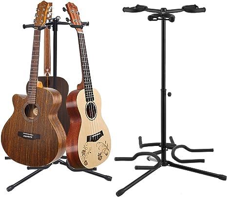 Soporte para guitarra de metal con 3 compartimentos, para guitarras ...