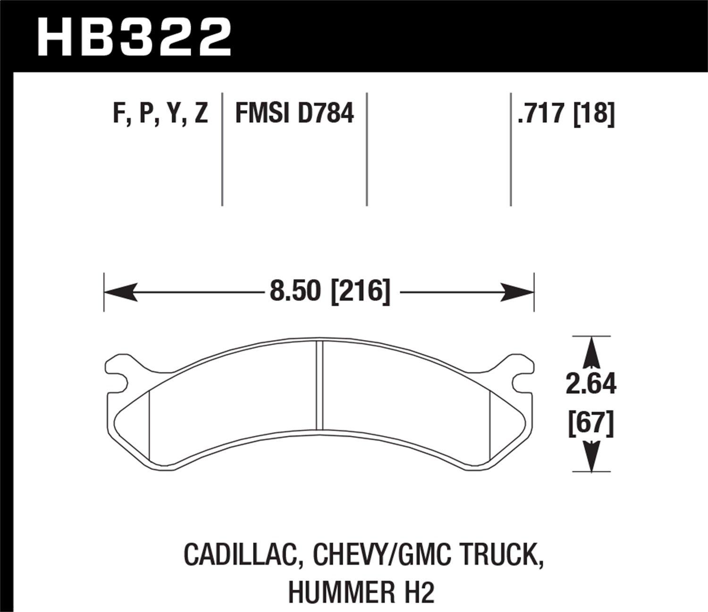 Hawk Performance HB322B.717 Street Brake Pads