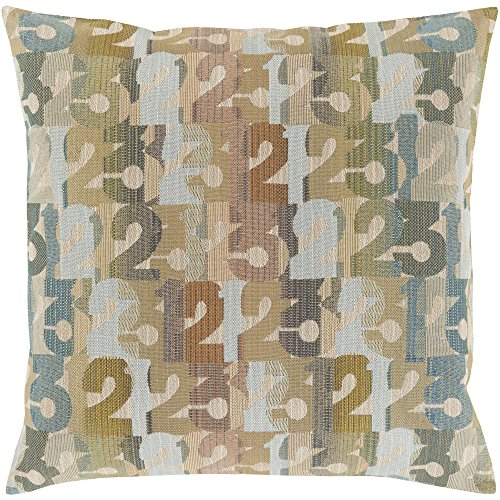 (Surya SHP002-2222P Synthetic Fill Pillow, 22-Inch by 22-Inch,)