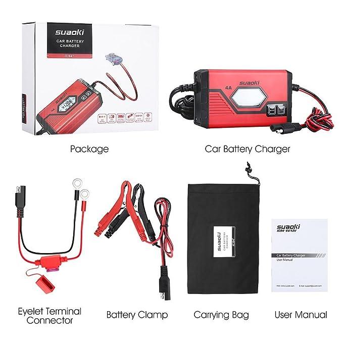 SUAOKI Coche Cargador de batería: Amazon.es: Coche y moto