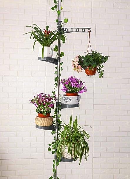 baoyouni poteau 7 tagres pour plantes dintrieur tagres de prsentation de fleurs en mtal support
