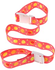 D DOLITY Toddler Baby Bottle Sippy Cup Strap Toy Holder for Stroller Car Seats High Chair - Red, as described