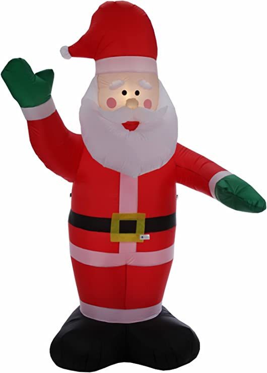 Amazon.com: Homegear 8 ft Navidad Papá Noel de Papá Noel ...