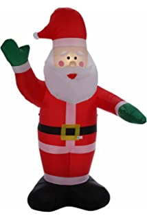 Homegear 8 Ft Christmas Inflatable Santa Claus