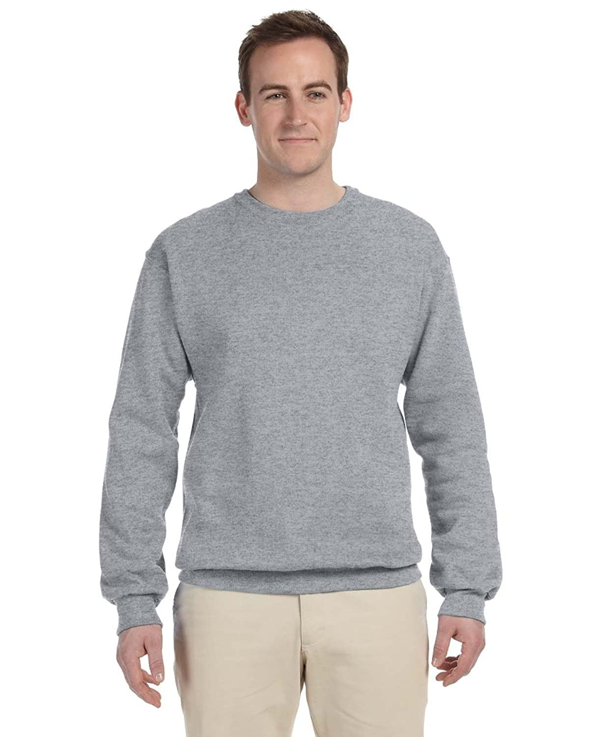 Jerzees 8 Oz., 50/50 Nublend Fleece Crew - Oxford - 4xl