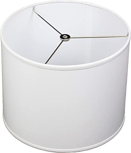 FenchelShades.com 12 Top Diameter x 12 Bottom Diameter 9.5 Height Fabric Drum Lampshade Spider Attachment Designer Chintz White