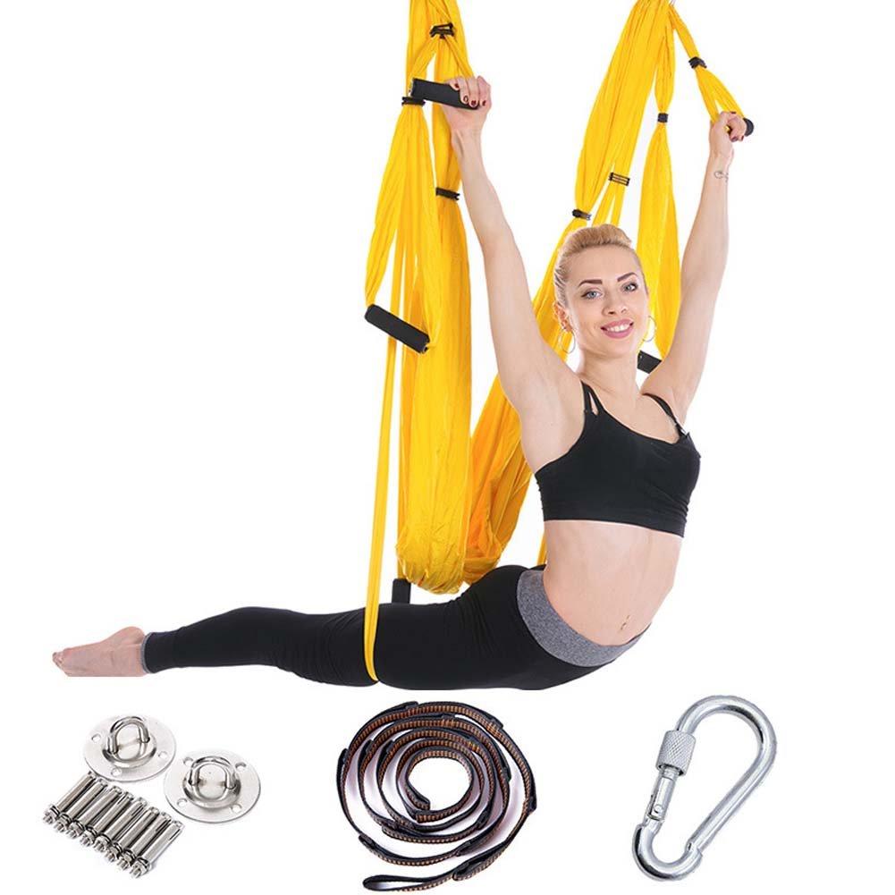 QAZSE Aerial Yoga Hängematte Indoor Outdoor Zubehör Fitness Swing